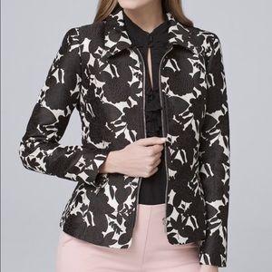 White House Black Market Jacquard Floral Jacket